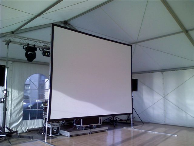 écran de projection 4x3m